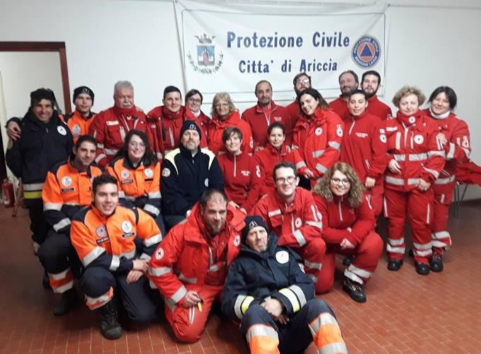 cri e protezione civile nell'emergenza neve