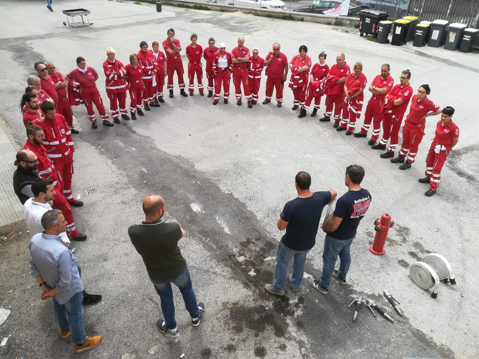 volontari con prevenzione incendi
